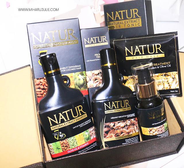 Review Rangkaian Perawatan Rambut Rusak dari Natur
