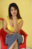 Cute Telugu Actress Shunaya Solanki High Definition Spicy Pos in Yellow Top and Skirt  0439.JPG