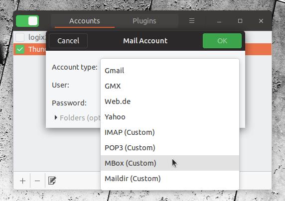 Mailnag Mbox maildir