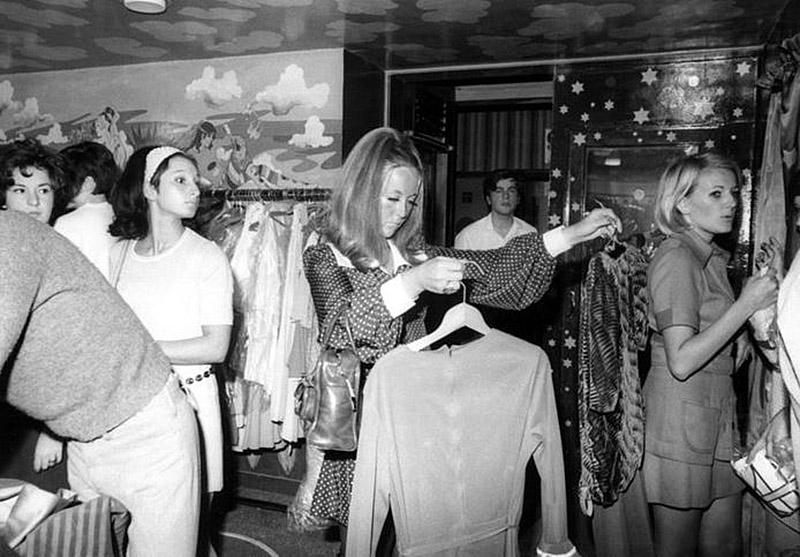 vintage photo of beatles apple boutique