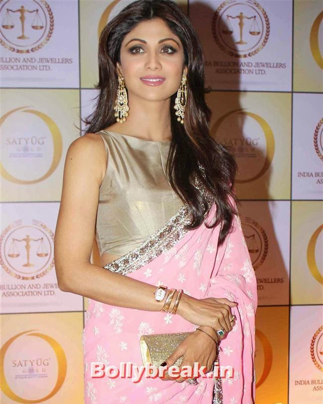 Shilpa Shetty, Shilpa Shetty, Geeta Basra & Raveena Tandon Sizzle at Satyug Gold Launch
