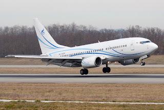 Boeing 737-700 of Gazpromavia at Basel-Mulhouse