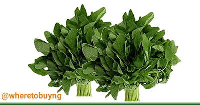The picture of two images of spinach on a white background.