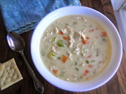 Cheesy Chicken and Potato Chowder