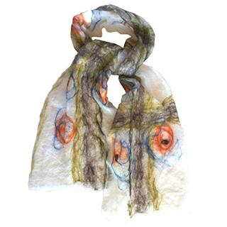 Handmade Briar Rose scarf by Mimi Pinto