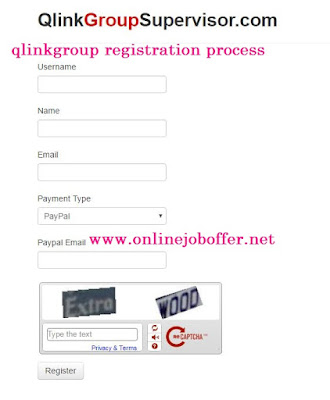 Qlinkgroup: Login Registration Process Supervisor