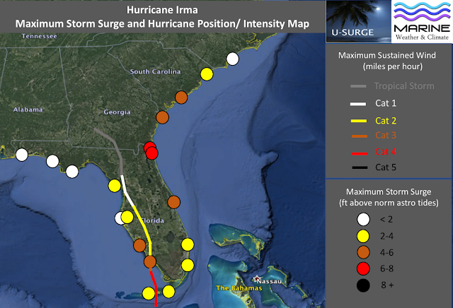 Map Of Maximum Storm Surge Data Map Created By Dr Hal Needham Marine Weather And Climate U Surge Data Provided By Noaa Tides And Currents