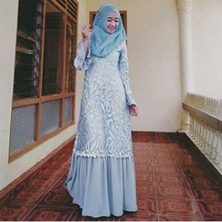 18 Model Dress Brokat Cantik Untuk Muslimah