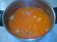 Haciendo Crema de Zanahorias y Calabaza