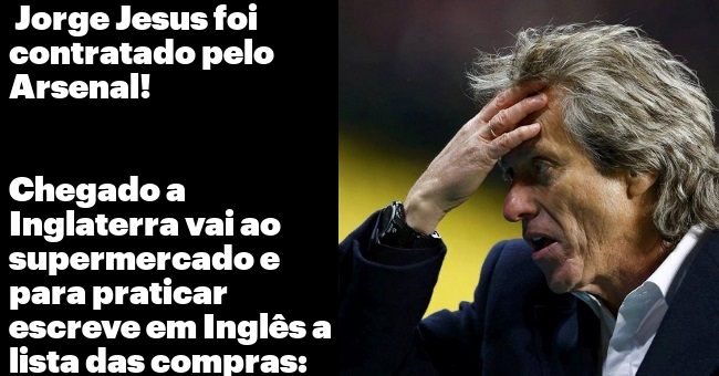 Jorge Jesus vai treinar o Arsenal!!