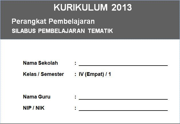 Silabus Kurikulum 2013 Integrasi Kelas 4 SD