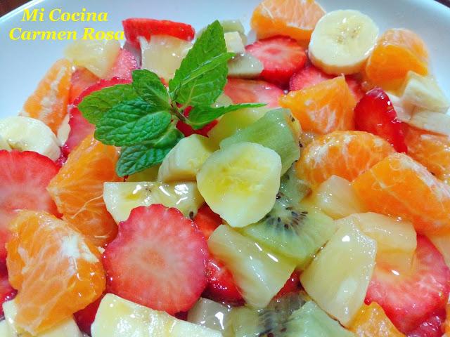 Macedonia De Frutas Con Miel