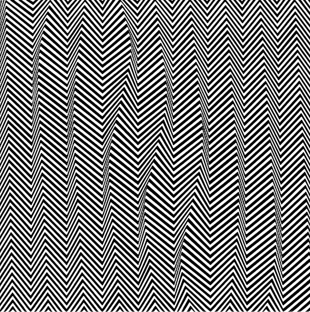 Bridget Riley art 2, zigzag