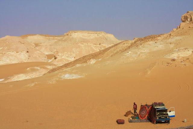 Deserto Branco se assemelha a Marte em alguns lugares