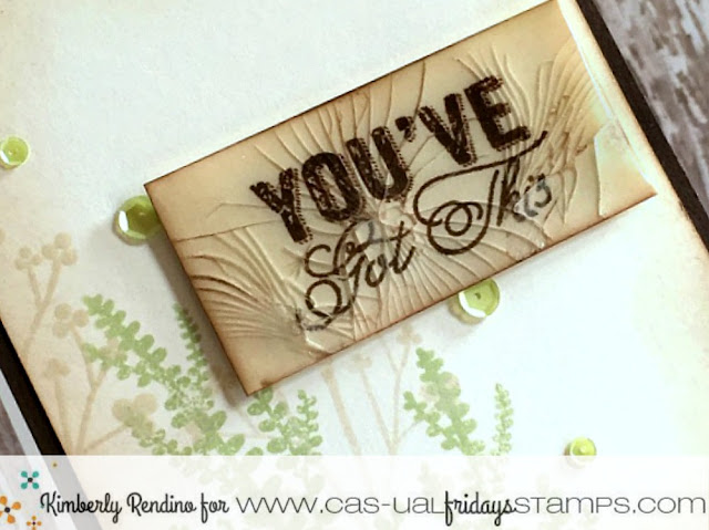 encouragement card | handmade card | cardmaking | paper craft | clear stamps | cas-ual fridays stamps | kimpletekreativity.blogspot.com  | UTEE | enamel embellishments