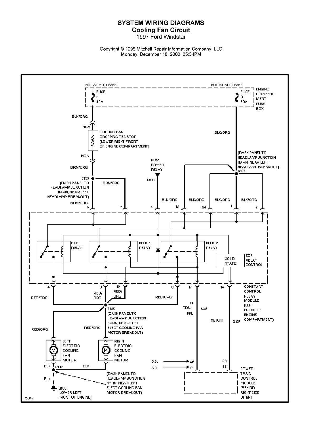 1997 windstar wiring diagram