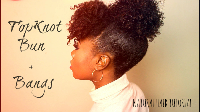 Easy Curly Bangs And Bun Tutorial For Natural Hair Curlynikki