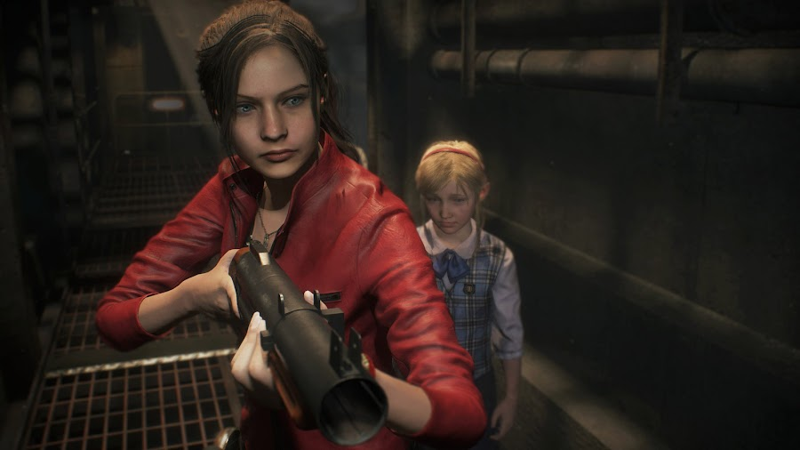 resident evil 2 remake claire redfield sherry birkin screens