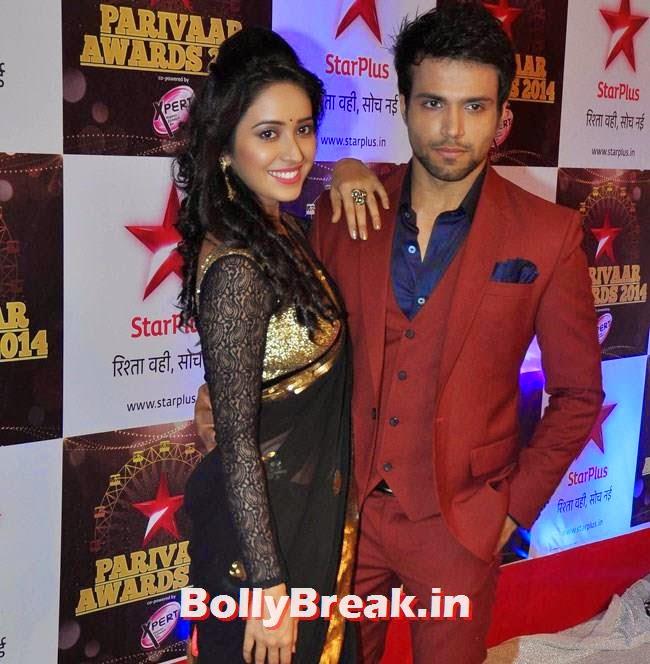 Asha Negi and Rithvik Dhanjani, Star Parivaar Awards 2014 Red Carpet Pics