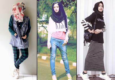 style baju hijab tomboy