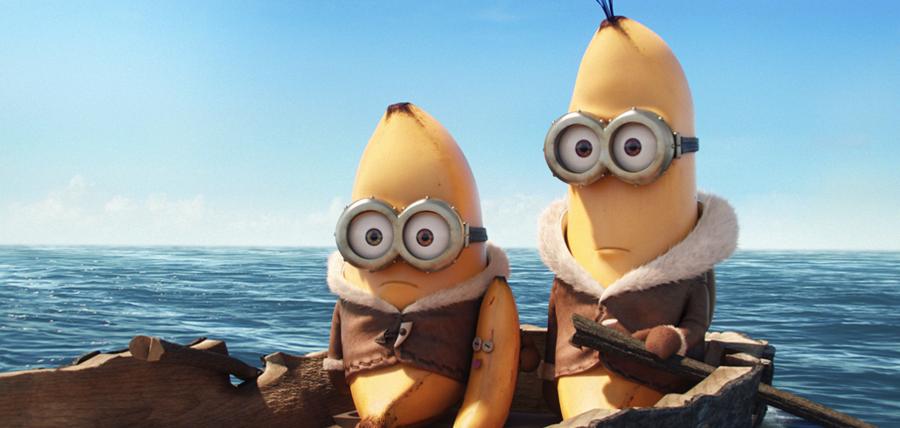 Kevin împreună cu Stuart în primul trailer pentru Minions.