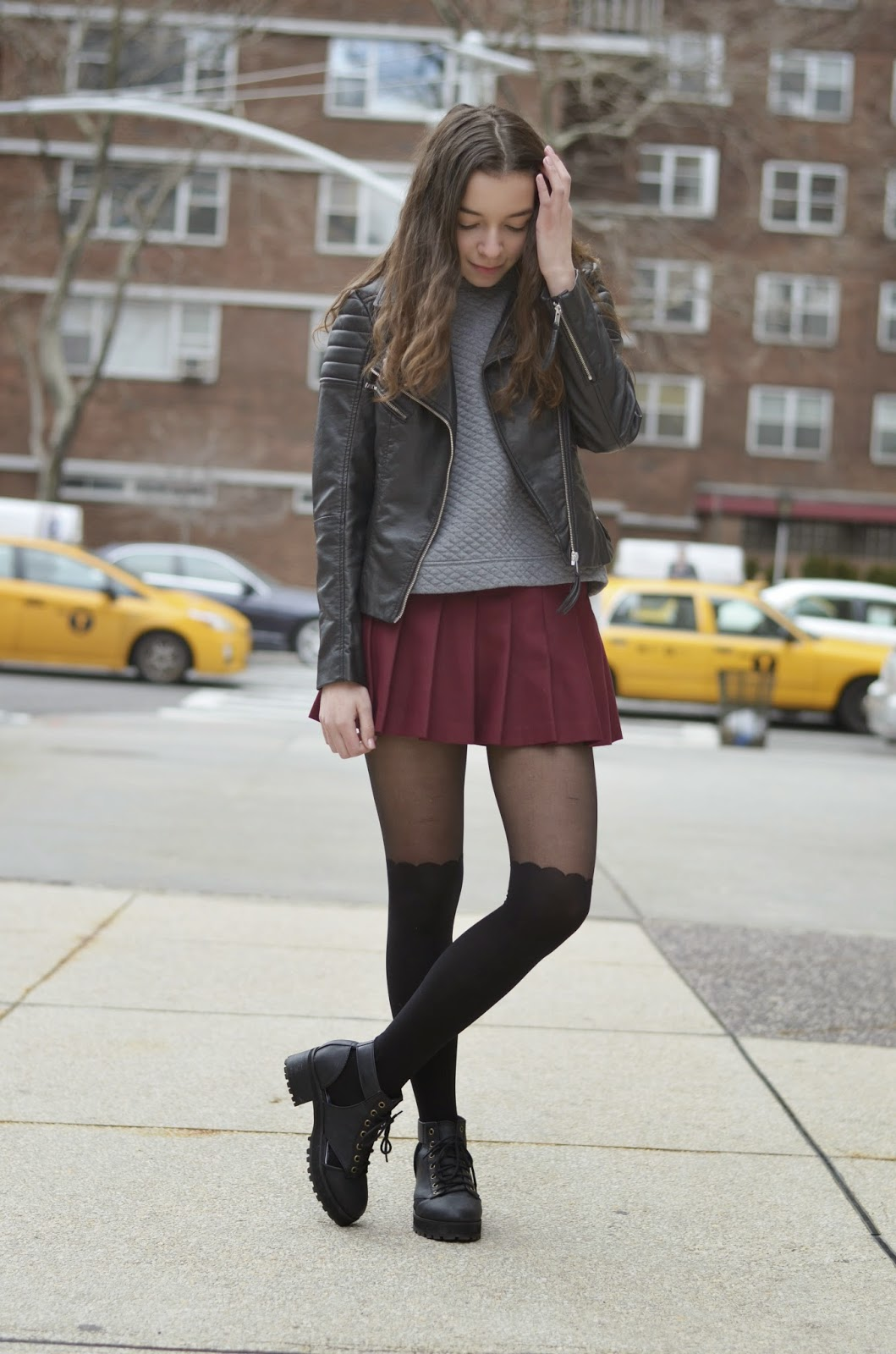 Tights With Navy Dress Tan Shoes