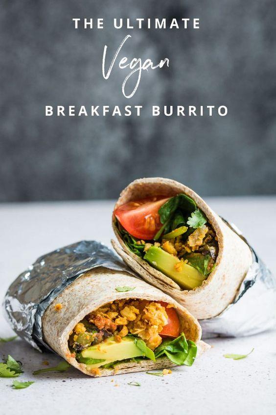 The Ultimate Vegan Breakfast Burrito #vegan #breakfast #burrito #make #ahead