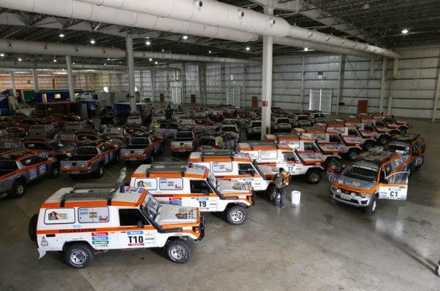 Dakar'da görevli araçlardan bir bölümü