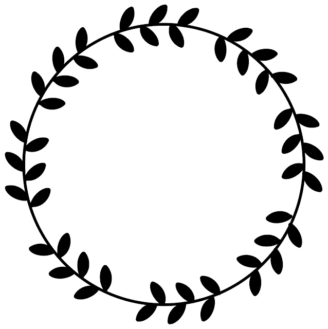 circle+and+leaf+frame+template  Letter Circle Monogram Template on