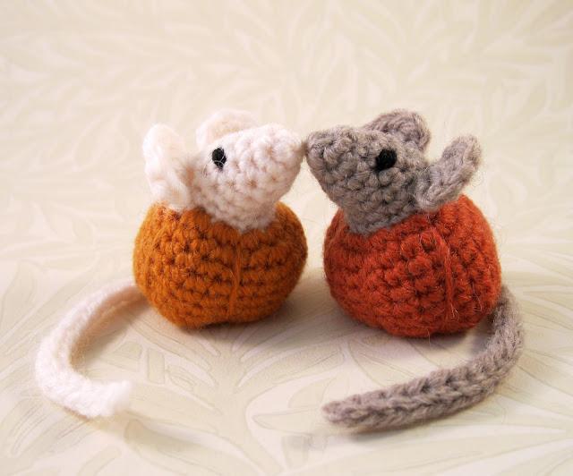 Lucyravenscar Crochet Creatures Little Pumpkin Mice