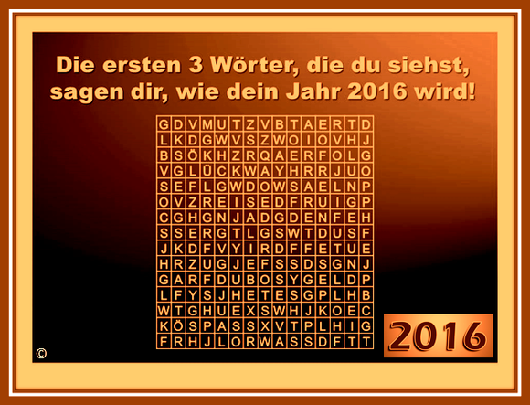 """Welche drei Wörter prägen Ihre Erlebnisse im Jahr 2016"""""""