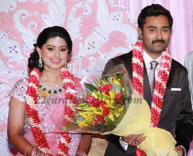 85ce66200f Sneha in Diamond Sets at her Wedding Reception. South Indian actress Sneha  in designer ...