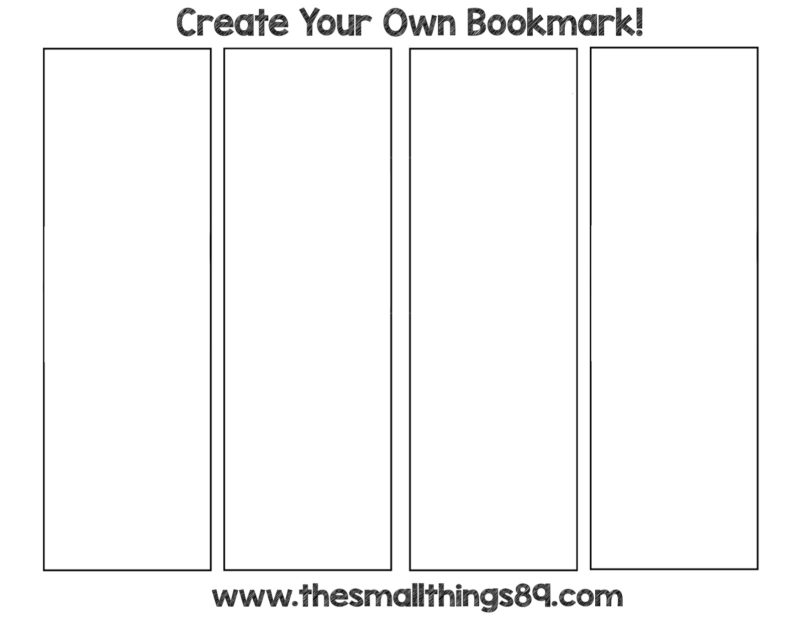 Create your own bookmark bookmark template create your for Create your own bookmark template