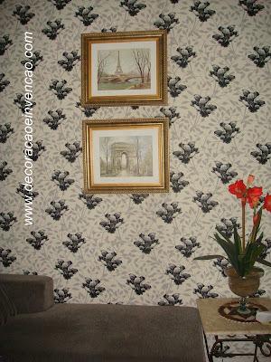 parede revestida com tecido
