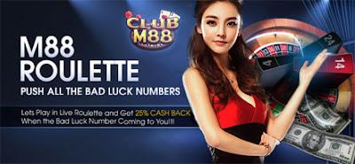 M88 Roulette Get Cash Back 25%