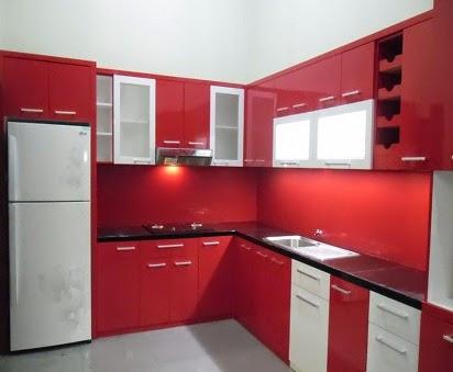 Harga lemari dapur minimalis aneka tipe for Harga kitchen set minimalis olympic