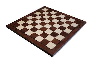 Large Italian Prestige Walnut Chess Board