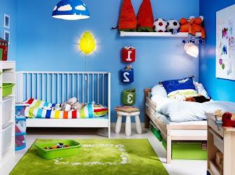 Cuarto para niños azul