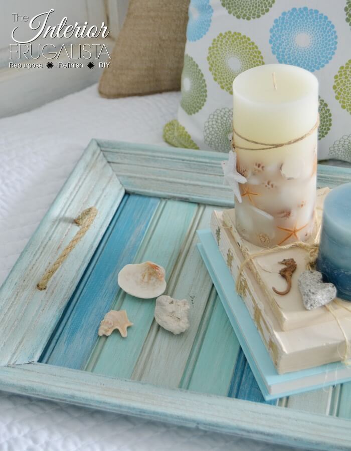 Coastal Picture Frame Serving Tray For Summer