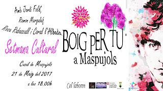 #dalia2017 #daliademaspujols, setmana cultural, Maspujols, Associació de Dones La Dàlia de Maspujols, la Dàlia, la Dàlia de Maspujols,, Boig per tu