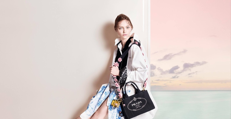 27d115ccef In Prada's latest campaign for the Pre-Fall 2016 campaign season, the brand  shows off the latest in cross-body bags and clothing from the Pre-Fall 2016  ...
