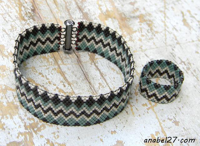 браслет и кольцо в этническом стиле