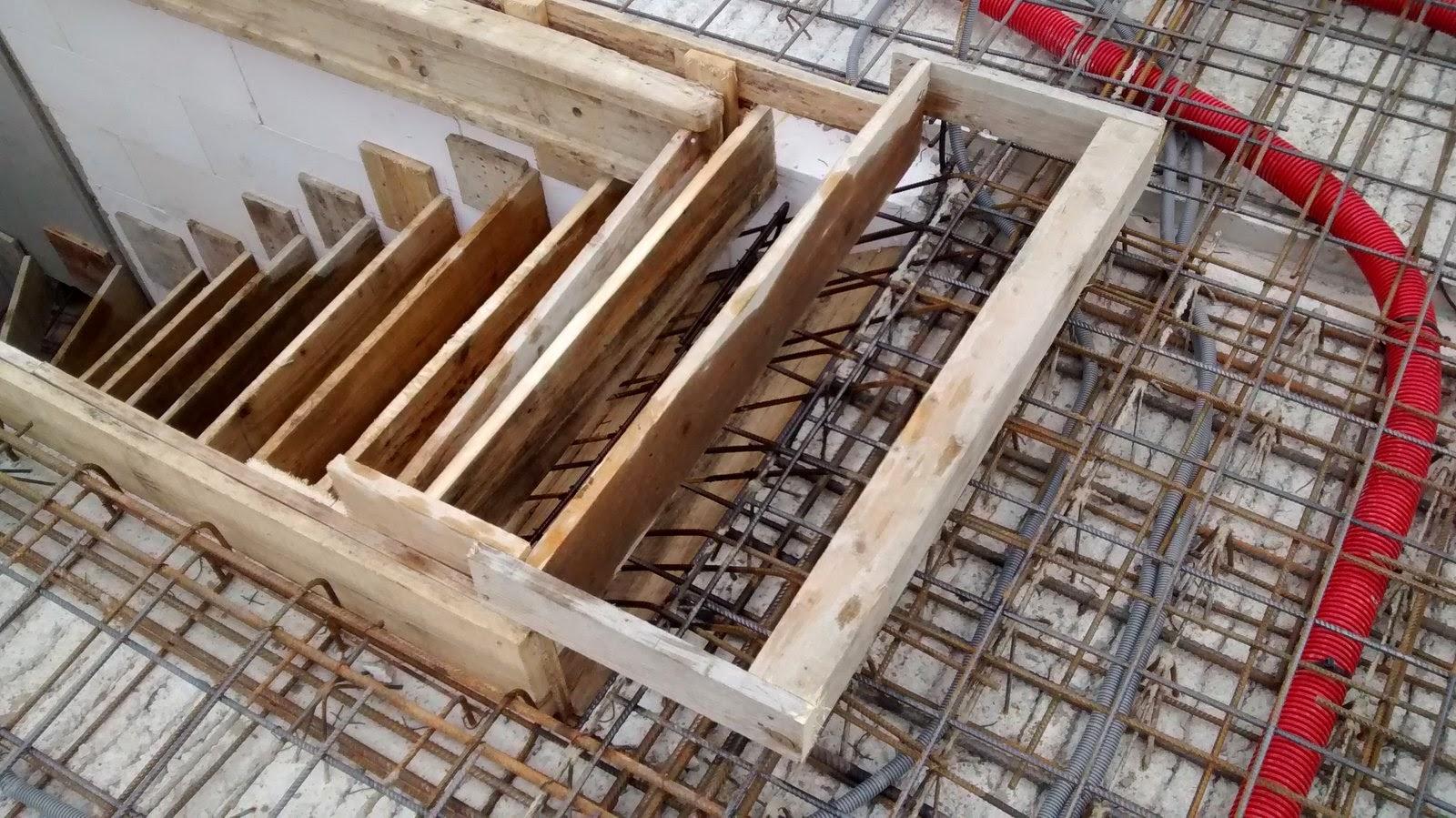 schalung und bewehrung f r die kg decke sind vorbereitet. Black Bedroom Furniture Sets. Home Design Ideas