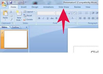 Fungsi Menu SLIDE SHOW ( Tools Pada Microsoft Powerpoint )