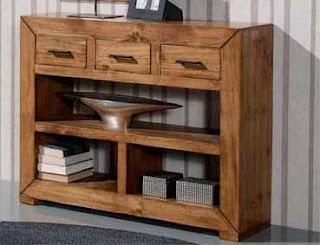 mueble recibidor rustico, mueble rustico entrada