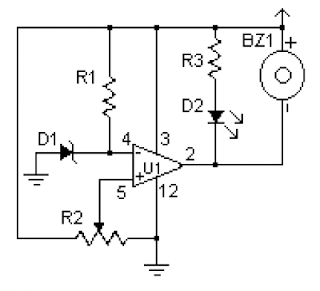 KUMPULAN SKEMA ELEKTRONIKA: Battery Detector