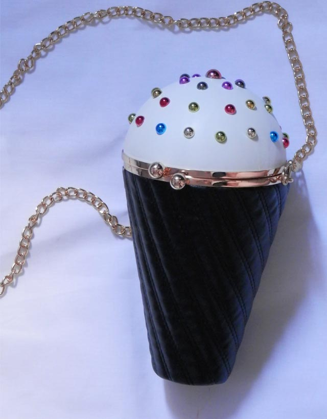 bolsa em forma de cone de sorvete