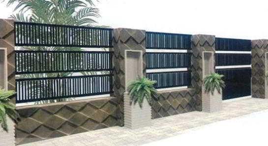 Contoh Desain Pagar Batu Alam Minimalis Modern Model Terbaru