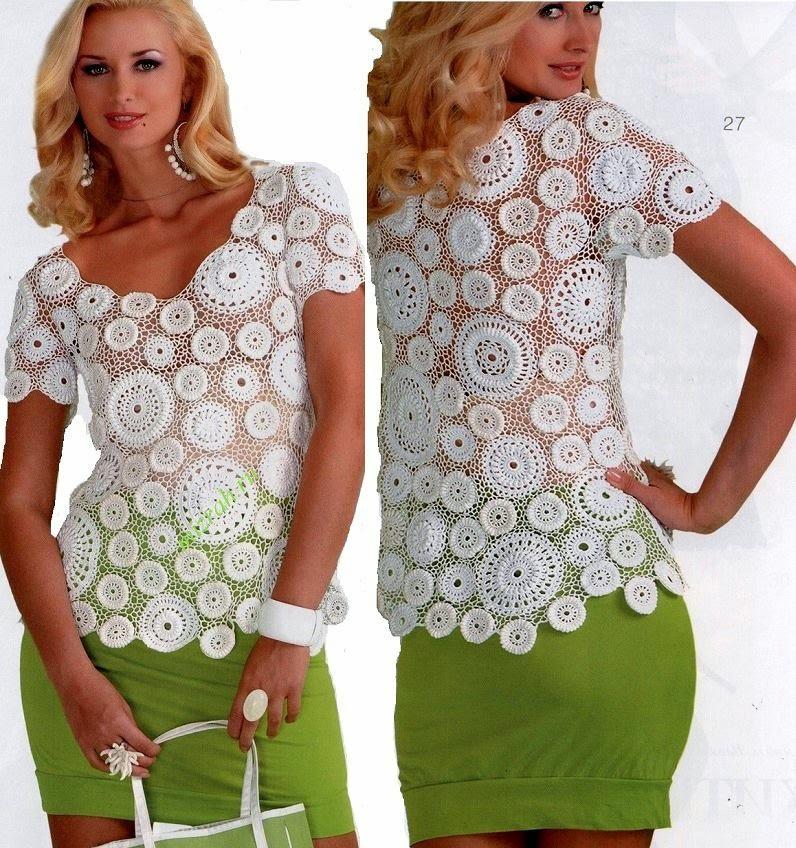 Delicada blusa al crochet