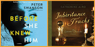 reviews of Before She Knew Him by Peter Swanson and Inheritance Tracks by Catherine Aird